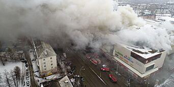 image: Dødsbrannen: – Sikkerhetsvakt slo av brannalarmene på russisk kjøpesenter