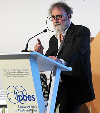 Foto: Robert Watson har ledet arbeidet med på sette sammen data fra hele verden om tap av biologisk mangfold. Diego Noguera, IISD/ENB