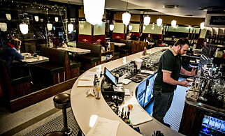 AMERIKANSK: Kelnerne snakker stort sett med amerikansk aksent, som forsterker inntrykket av å være i et annet land.