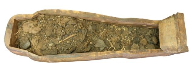ÅPNET: Slik så sarkofagen ut da den ble åpnet. Foto: Universitetet i Sydney / Nicholson-museet