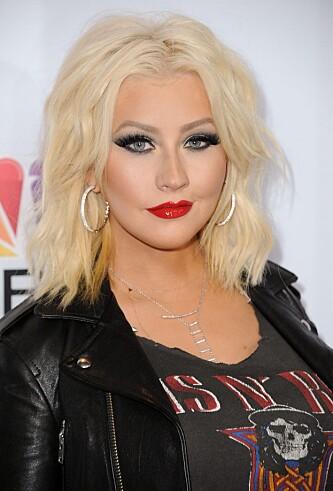 MED SMINKE: Christina Aguilera slik vi er vant til å se henne. Foto: NTB Scanpix