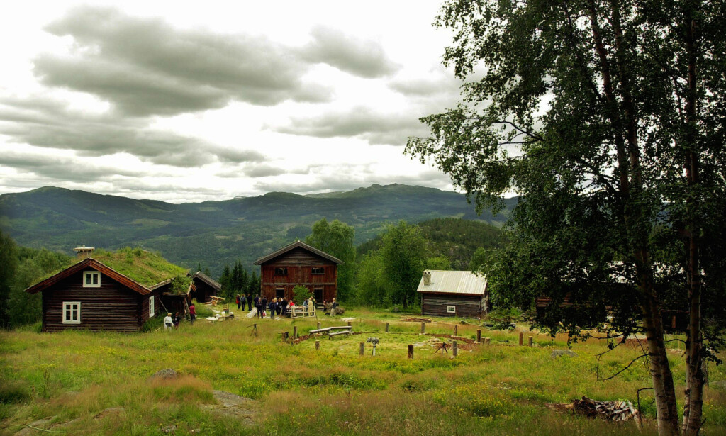 Klimaversting: Flå kommune i Hallingdal har Norges høyeste veiutslipp av klimagasser per innbygger. Illustrasjonen er hentet fra Rime gård i Flå. Foto: Heiko Junge / SCANPIX