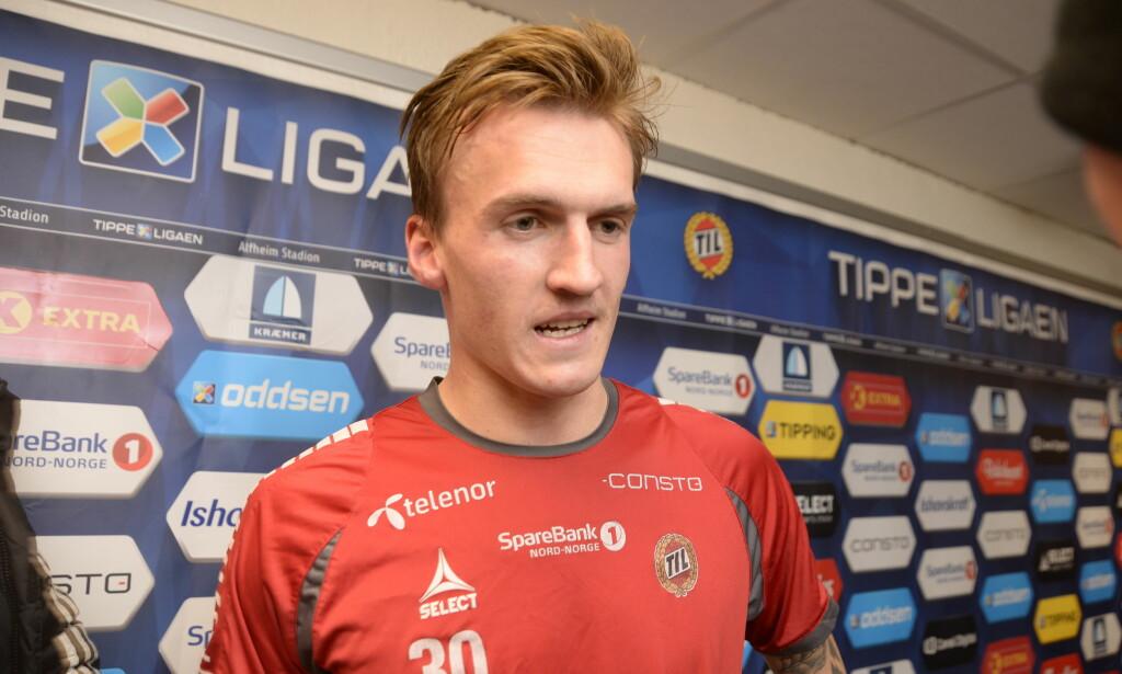 SCORET: Runar Espejord spiller til daglig i Tromsø. Han var i fantastisk form for U21-landslaget tirsdag kveld. Foto: Bertinussen, Rune Stoltz/NTB scanpix