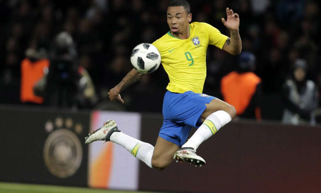 Gabriel Jesus ble matchvinner for Brasil mot Tyskland tirsdag. Foto: AP Photo/Markus Schreiber / NTB scanpix