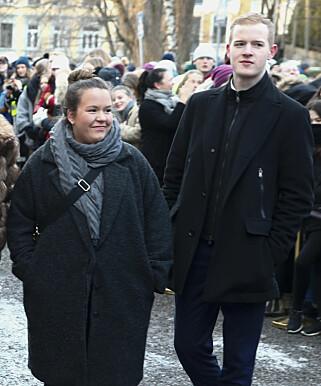 SKUESPILLERSTUDENTER: Ina Svenningdal (Jente-Chris) og Carl Martin Eggesbø (Eskild). Foto: Terje Pedersen / NTB scanpix