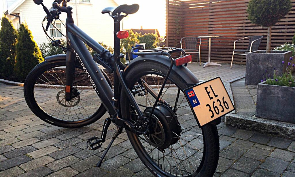 LOVLIG: En elsykkel med 45-grense må registreres som moped i Norge. Det kreves førerkort for å sykle med den, og du kan bare sykle i trafikken. Foto: Marius Marker/Comeo AS