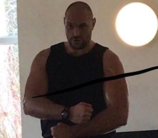NÅ: En mer trent Tyson Fury nylig. Foto: Privat