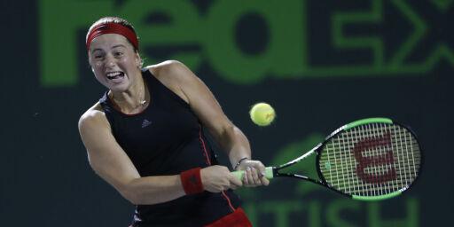 image: Ostapenko til semifinale i Miami Open
