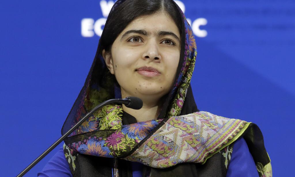 HJEM TIL PAKISTAN: Fra torsdag til søndag skal fredsprisvinner Malala Yousafzai være i hjemlandet. Det er første gang siden hun ble skutt i hodet av Taliban. Foto: NTB scanpix