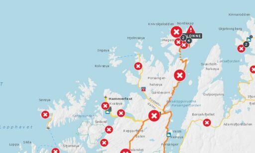 image: Uværet herjer i nord: – Nesten hele Finnmark er stengt