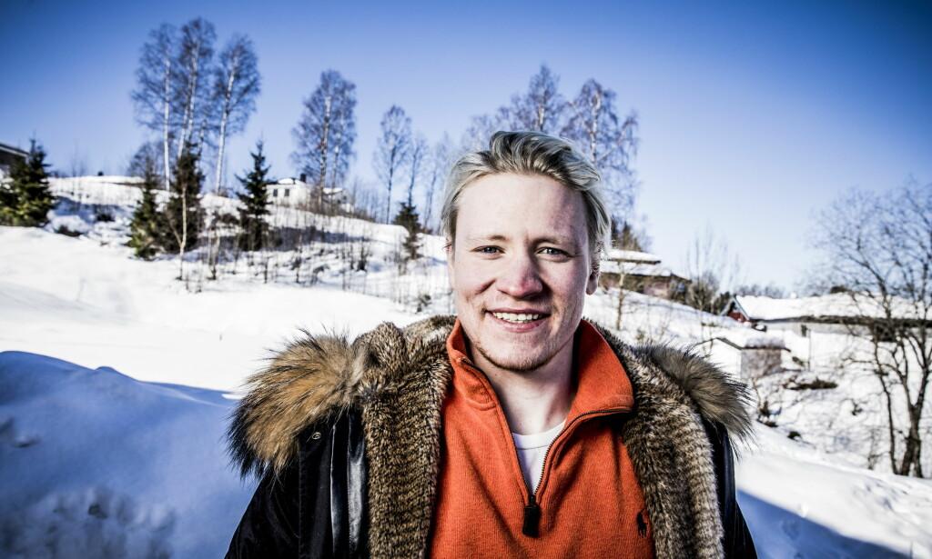 SATSER FOR FULLT: Simen Ramberg Christensen slo barndomskompisen Henrik Kristoffersen i NM. Det gir motivasjon for tiden som kommer. <br>Foto: Christian Roth Christensen