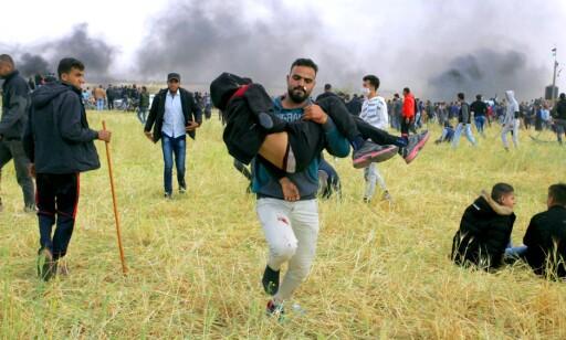 VIL HA GRANSKNING: FN-sjef Antonio Guterres vil nå undersøke hva som skjedde mellom demonstrerende palestinere og den israelske hæren i går. 16 palestinere ble drept og 1416 personer skadd. Palestinerne har varslet at de vil markere sin al-Nakba, katastrofen, med marsjer, teltleire og demonstrasjoner de neste ukene, fram til 15. mai. Foto: Scanpix