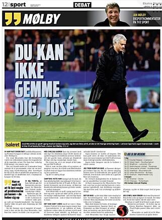 SVINGER PISKEN: Jan Mølby leverer over en hel side i Ekstra Bladet lørdag.