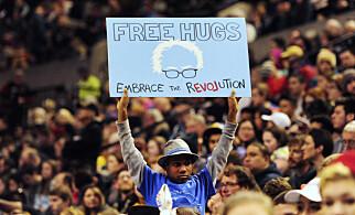 SANDERS-STØTTE: Devonte under et valgkamparrangement for Bernie Sanders i Portland i fjor vår. Foto: Steve Dykes / AP / NTB Scanpix