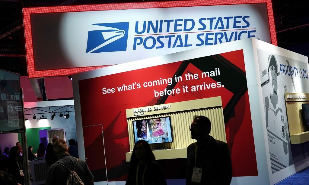 UENIGE: U.S. Postal Service - det føderale postvesenet i USA - medgir at de har økonomiske problemer, men sier det skyldes andre faktorer enn pakkene fra Amazon. Foto: Alex Wong / Getty / AFP / NTB Scanpix