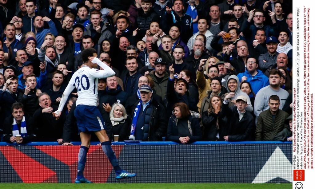 HVOR ER KRITIKERNE NÅ? Dele Alli har fått mye kritikk denne sesongen. I ettermiddag slo han tilbake med to mål mot Chelsea. Foto: REX/Shutterstock/ NTB Scanpix