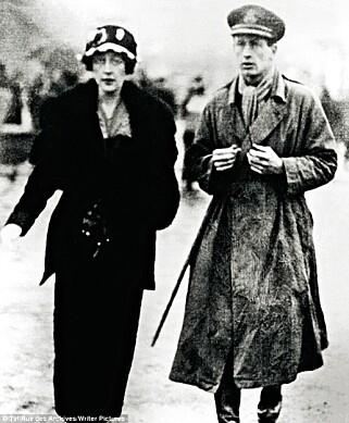 KRISE: Agatha Miller tok flygeren Archiebald Christies navn da de to giftet seg i 1914.