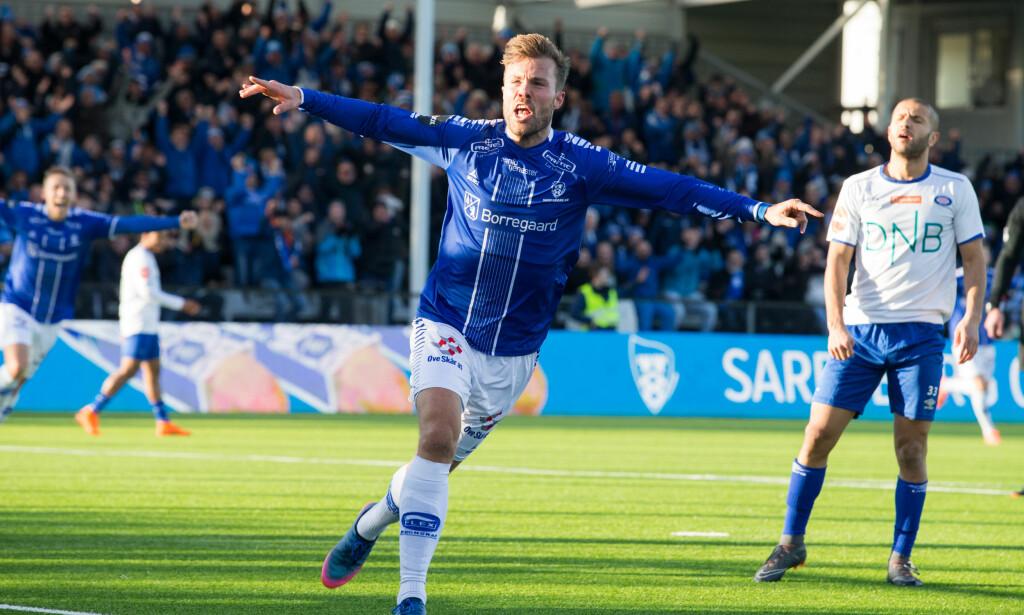JUBEL: Patrick Mortensen scoret to mot Vålerenga. Foto: Audun Braastad / NTB scanpix