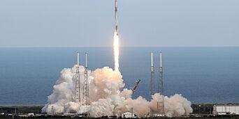 image: SpaceX-rakett med norske verktøy skutt opp