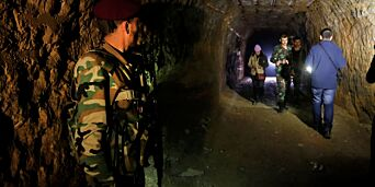 image: Slik levde opprørerne i de underjordiske tunnelene i Øst-Ghouta
