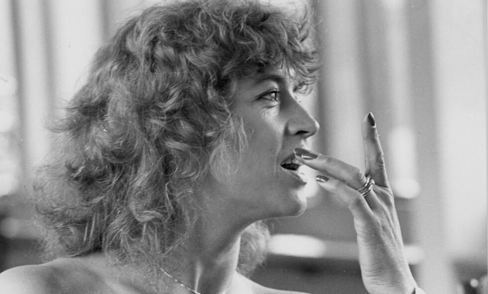 GIKK BORT: den svenske artisten Lill-Babs, eller Barbro Margareta Svensson, er død, 80 år gammel. Her fra 1977. Foto: Leif Høel / Dagbladet