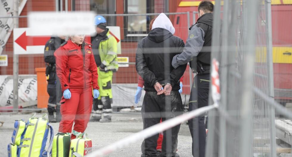PÅGREPET: Mannen i 30-åra ble pågrepet etter knivstikkinga. Foto: Fridgeir Walderhaug / Dagbladet
