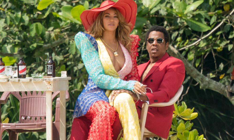 RAPPET OM MOREN: Beyoncé og Jay Z synger ofte om problemene de har i privatlivet. Foto: NTB Scanpix