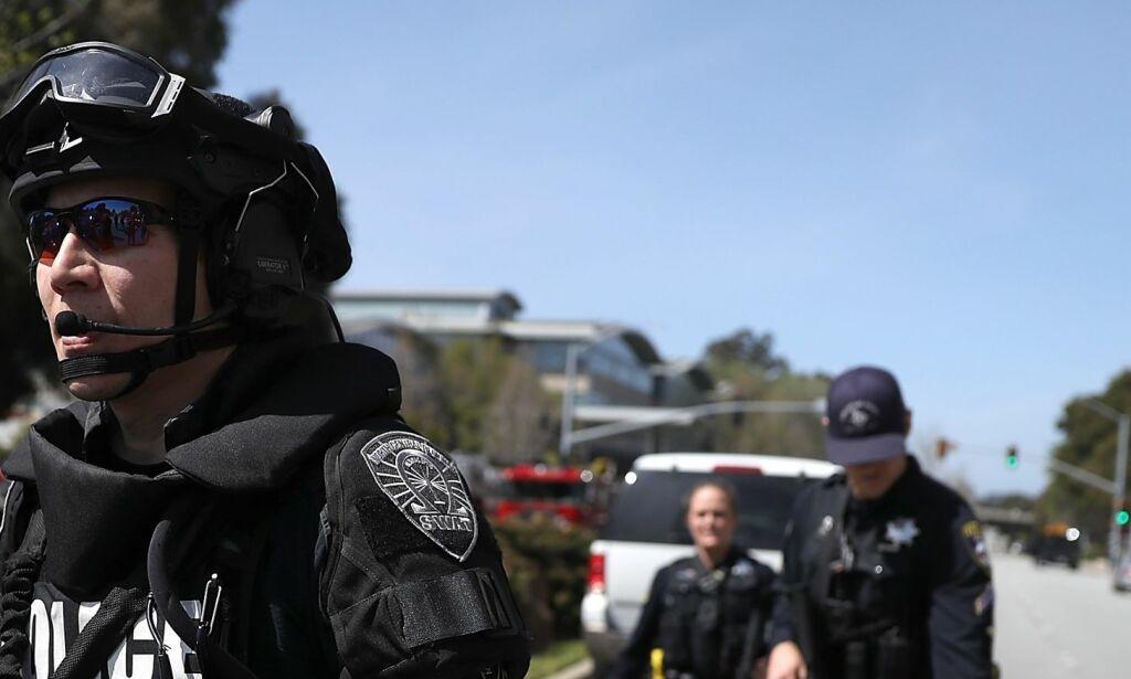 image: Kvinnelig skytter er død. Tre personer ble skadd