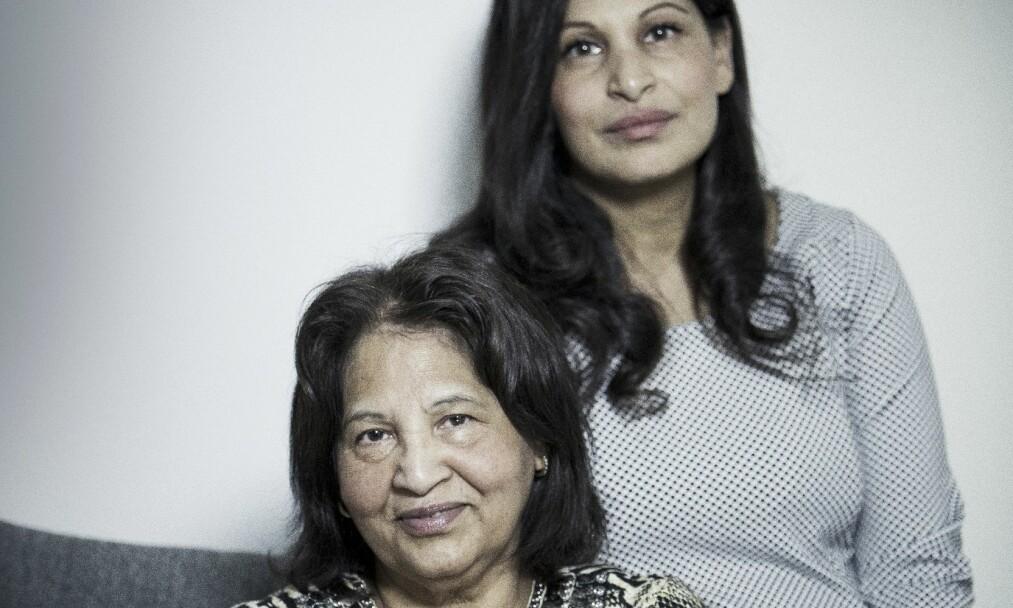 MUSLIMSKE MØDRE: – Jeg har alltid kunnet gå til mamma med alt. Alle vennene mine har alltid påpekt at hun er annerledes enn de andre muslimske mammaene. Jeg kjenner ingen som er så raus og åpensinnet som henne, sier Maria Gilani om moren Azra Gilani. FOTO: Rickard L. Eriksson