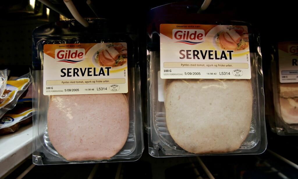MINDRE SALT: Produsentene har de siste årene redusert saltinnholdet i servelat. Foto: Jon Terje H. Hansen