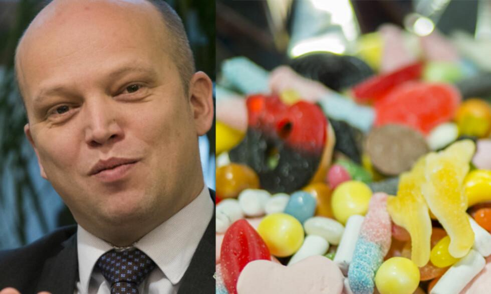 I ANGREP: Sp-leder Trygve Slagsvold Vedum legger snart frem forslag om å reversere sukkeravgiften. Foto: NTB Scanpix