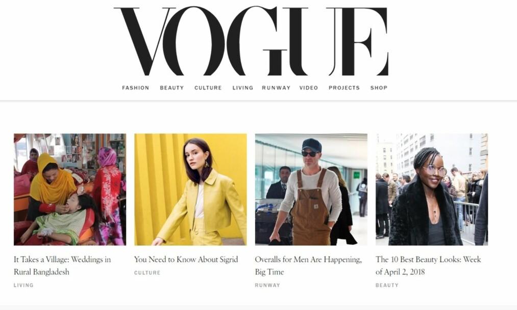 Foto: Skjermdump fra Vogue