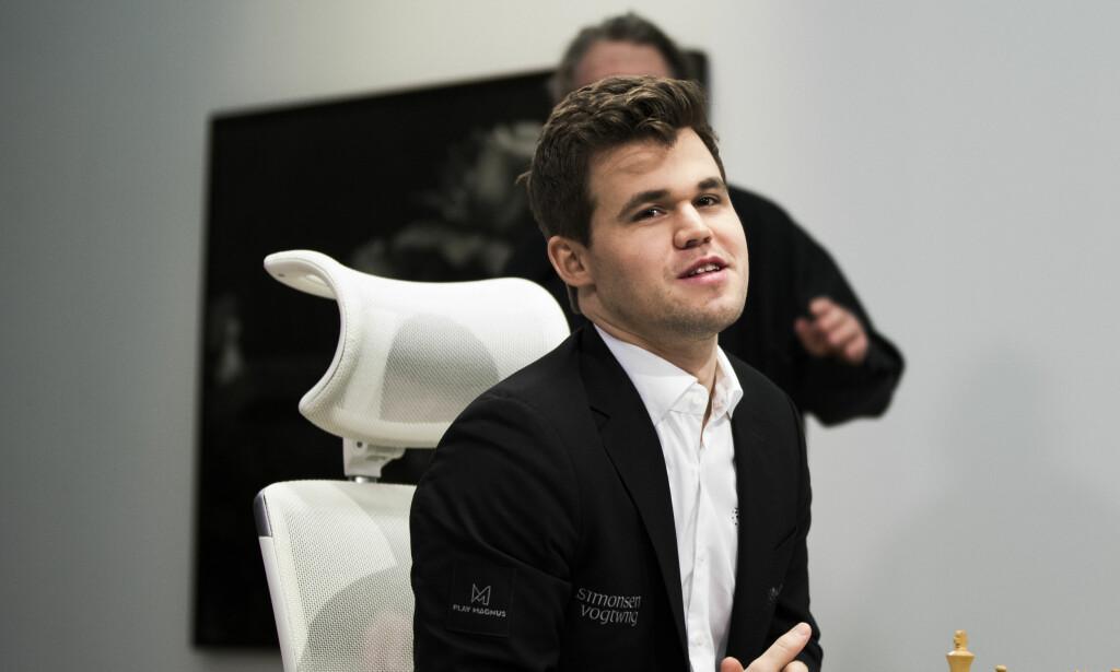 REMIS: Magnus Carlsen spilte remis mot franske Maxime Vachier-Lagrave. Foto: Berit Roald / NTB scanpix