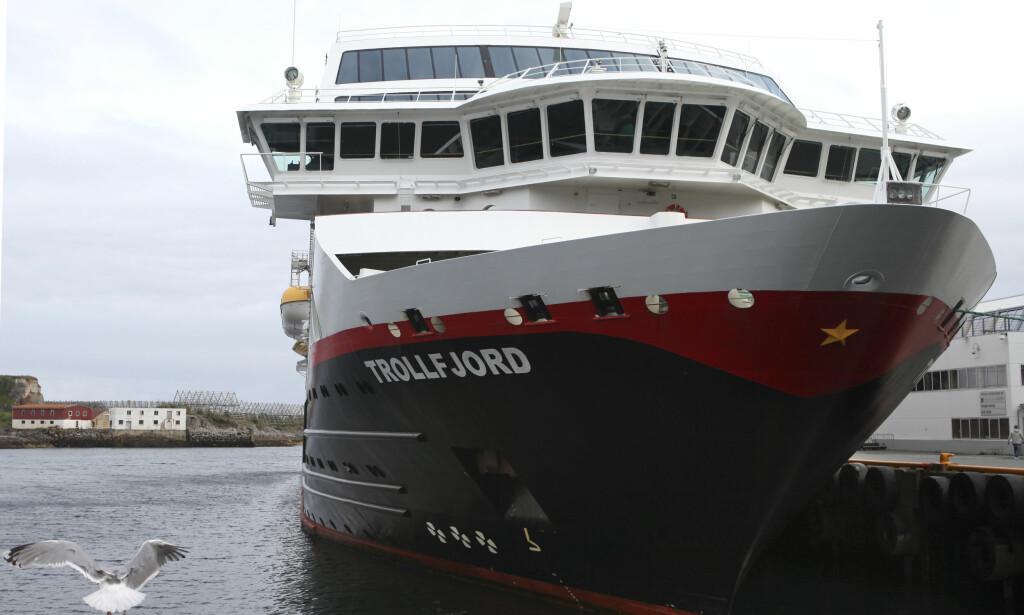 Svolvær  20160719. Hurtigruta Trollfjord til kai i Svolvær. Foto: Marianne Løvland / NTB scanpix
