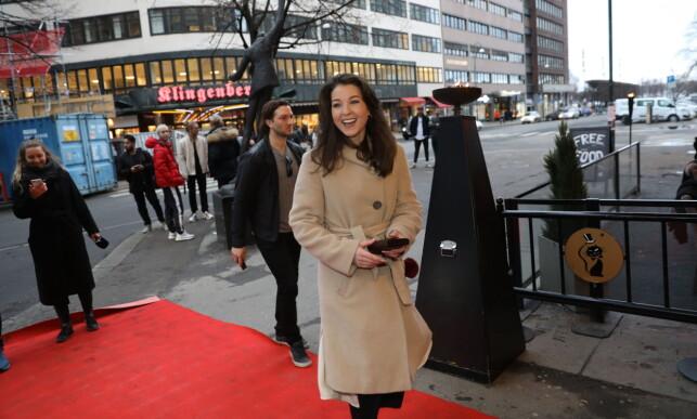 PREMIERE: Ida Gran-Jansen ankommer på rød løper under premieren på «Han heter ikke William» på Chat Noir i Oslo. Foto: Christian Roth Christensen / Dagbladet.