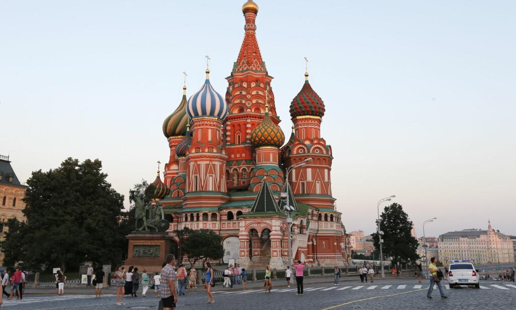 UTVIST: Tidlig torsdag morgen forlot den første gruppen med utviste amerikanske diplomater Moskva. Bildet viser Den røde plass og Moskvaelven i Moskva i Russland. Foto: Lise Åserud / NTB scanpix