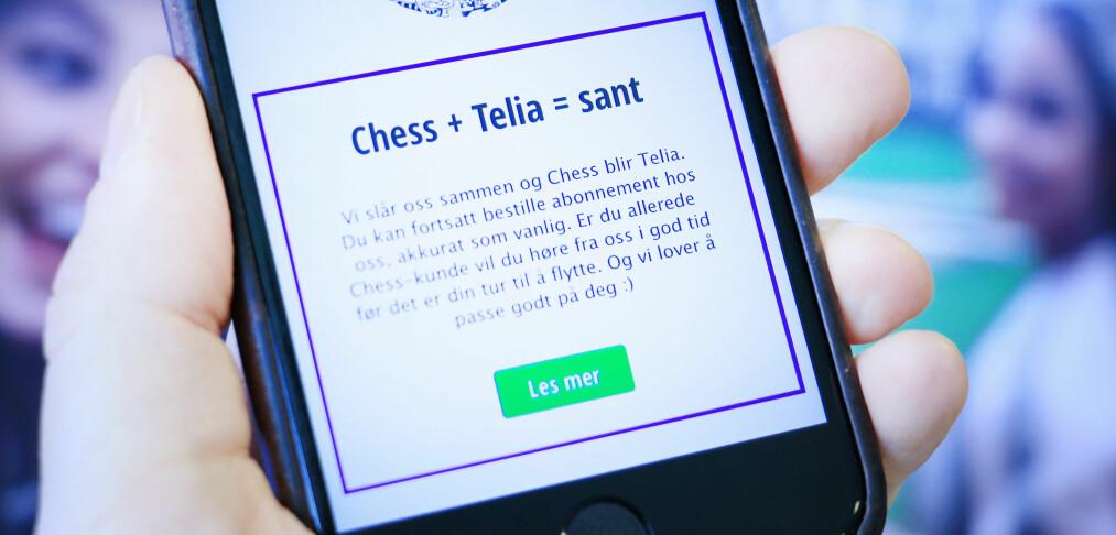 Chess legges ned – kunder til Telia