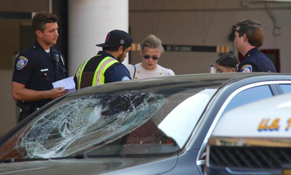DRAMATISK: Jaime King ble angrepet i Beverly Hills med sønnen sittende i bilen. Foto: NTB Scanpix