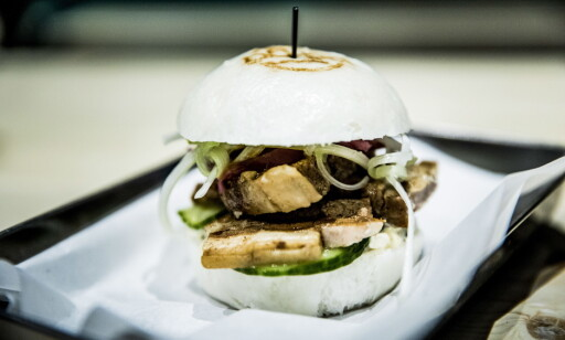 KINESISK BURGER: Ba-Ga serverer såkalte Bao-burgere, som er små, kinesiske varianter.