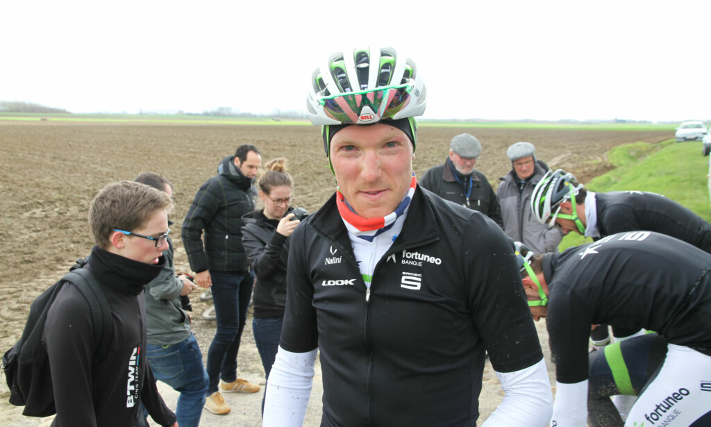 KREVENDE: Lunke fikk et tøft møte med brosteinen i Nord-Frankrike. Foto: Jarle Fredagsvik/procycling.no