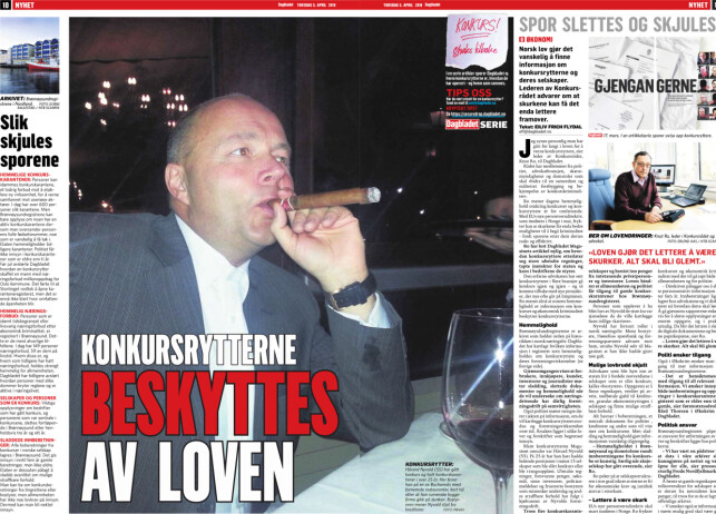 Faksimile: Dagbladet torsdag 5. april.