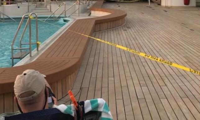 STENGT: Store områder om bord på skipet var sperret for passasjerene under seilasen som gikk fra Miami til Los Angeles via Panamakanalen. Skipet Norwegian Sun la ut fra havna i Florida 15. mars. Foto: Panama Canal Sun