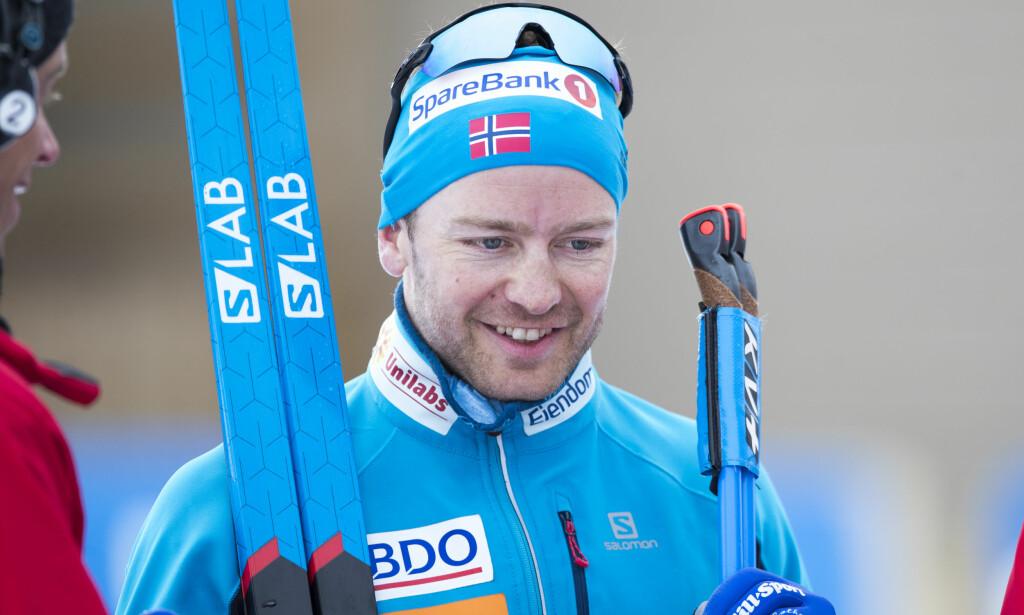 LYKKELIG: Sjur Røthe fikk en skikkelig opptur etter å ha slitt tungt gjennom sesongen. Foto: Terje Pedersen / NTB scanpix