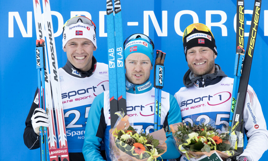 PALLEN: Pål Golberg, Sjur Røthe og Martin Johnsrud Sundby. Foto: Terje Pedersen / NTB scanpix