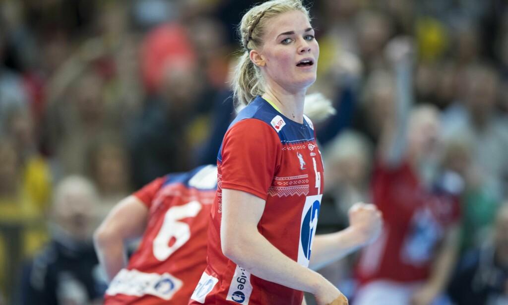 TAPTE KNEPENT: Veronica Kristiansen og Midtjylland røk på et tap mot Vardar i mesterligaen fredag. Foto: Terje Pedersen / NTB scanpix