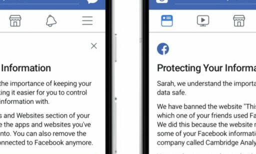 image: Fra klokka 18 i kveld får du beskjed om du er rammet av Facebook-skandalen