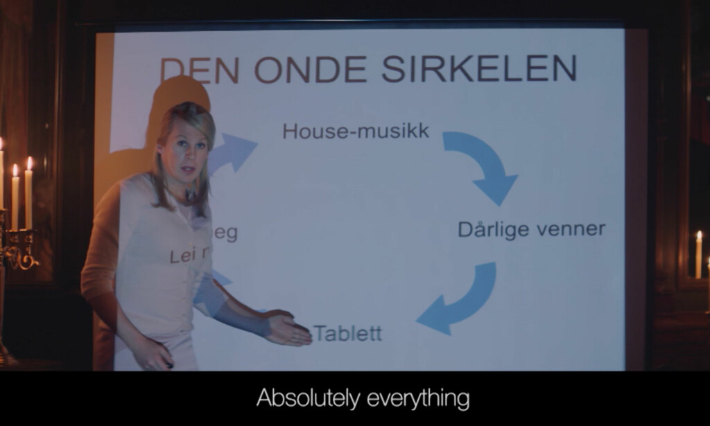 BILDEFRAMVISNING: Bård Ylvisåker i rollen som en fersk kronprinsesse Mette-Marit. Foto: TVNorge