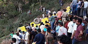 image: 27 skolebarn omkom i bussulykke i India