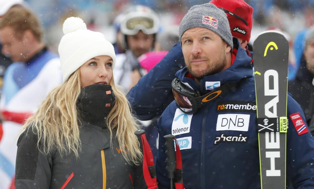 <strong>FORHOLDET TOK SLUTT:</strong> Aksel Lund Svindal og modell Gitte Lill Paulsen skal ha gått hver til sitt. Foto: NTB scanpix
