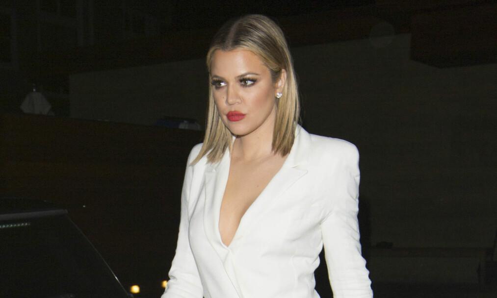 KLAR: Khloé Kardashian avkrefter at hun er blitt mamma allerede, men innrømmer at hun er klar for å treffe datteren. Foto: NTB Scanpix